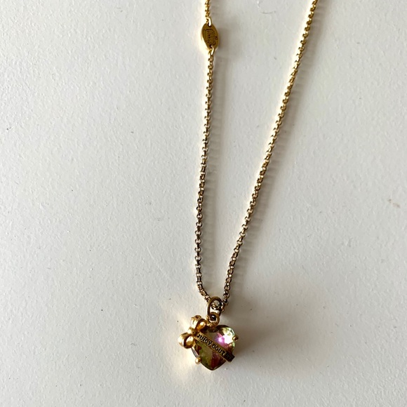 Juicy Couture Jewelry - Juicy Couture Gold Crystal Necklace